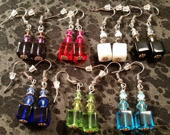 Ombre Inspired Glass Drop Earrings - Pick Your Color
