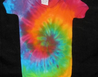 Over the Rainbow Tye Dye One Piece Romper 3 mos - 24 mos