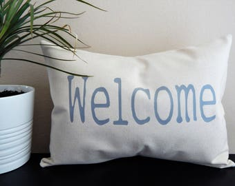 Welcome Throw Pillow Entryway Pillow Home Decor Fixer Upper Decor Farmhouse Throw Pillow House warming gift Home and Living