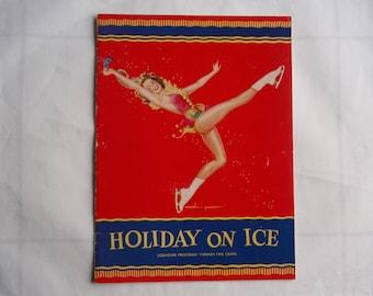 1947 Holiday on Ice Souvenir Program Collectible Paper Book Booklet Ice Skate Skating Memorabilia Souvenir C347