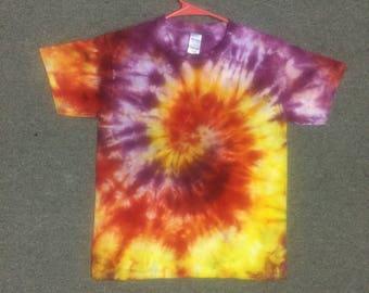 Youth Medium Tie Dye T-Shirt #Y010  -  Spinner