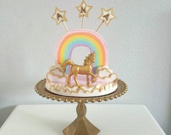 Unicorn Rainbow cake topper / centerpiece
