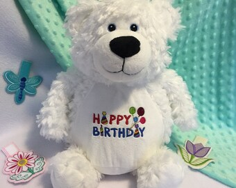 Teddy Bear softie - Personalized plush toy - Mothers day gift - Birthday present - First baby's toy - Embroidered stuffed animal toy