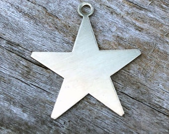 Nickel Silver Star with One Ring 24ga 7/8'' (Pkg of 6) (MSN53024) **CLOSEOUT**