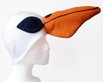 Pelican Hat. Bird Beak, Baby Shower, Silly Hat.