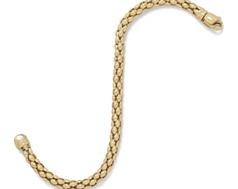 Women's 14 Karat Gold Plated Coreana Chain Bracelet or Necklace