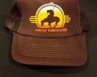New Mexico Snapback Trucker Hat Vintage Mesh Cap