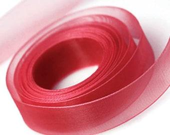 Red Chiffon Ribbon 23mm Wide x 91 Metre Roll