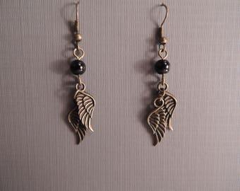 Bronze Angle Wing Dangle Earrings