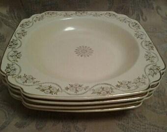 Vintage Homer Laughlin, Century Soup Plates Set of Four