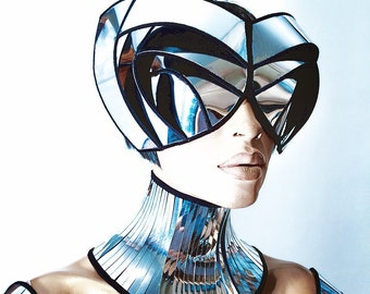 cyborg goggles futuristic, sci fi, cyber eyewear, mask, goggles, face mask