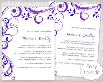 blue and purple invitations - Acur.lunamedia.co
