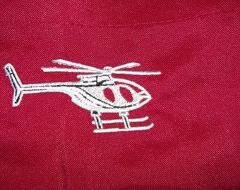 "APRON Helicopter Chopper Embroidery 32"" BBQ Barbecue - Ready to Ship"