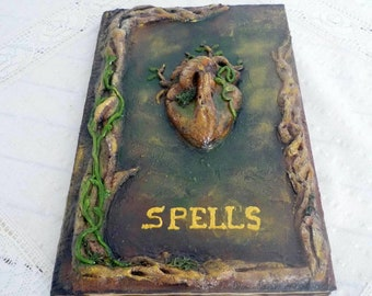 Book of shadows, Spell book, Grimoire, Beltane notebook, Wizard book, Wicca book, journal, notebook, Mixed media journal, spell journal,