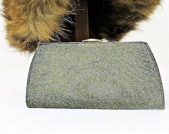 Vintage Clutch Purse/1950's Clutch Purse/Vintage Lurex Purse/Vintage Handbags (Ref1971E)