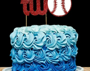 Baseball Two Cake Topper, Two Cake Topper,2nd Birthday Cake Topper, 2 Birthday Cake Topper, Sports  Birthday