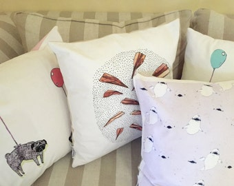 Illustrated Cushion Covers