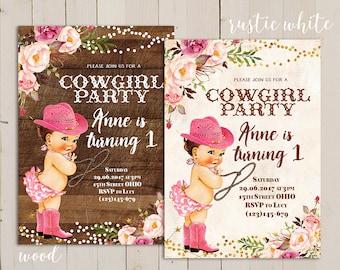 Cowgirl Birthday Invitation Set of 8