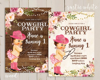 Cowgirl birthday invitation printable cowgirl birthday pink shabby cowgirl birthday invitation country cowgirl invitation cowgirl first birthday invitation rustic filmwisefo Images