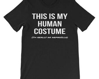 Human Costume I'm Really an Armadillo Shirt Cosplay Tee