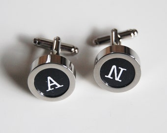 Men's personalized  Cuff links - - Men's Cuff links-  Photo Cuff Links-Initial Cuff Links -Men's Accessories