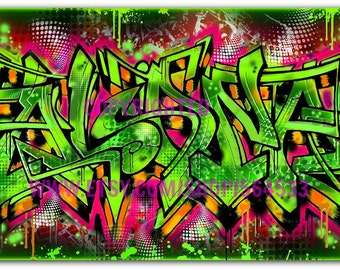 Your Name in Graffiti Canvas Print