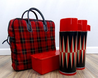 Sears 'Thermos' Picnic Stadium Set with Carrying Tote