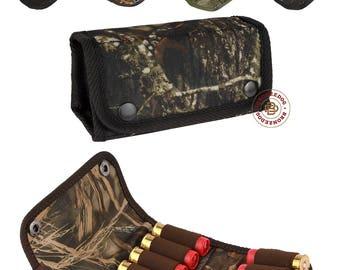 Hunting Camo Shotgun Shell Holder 12 gauge, Cartridge Holder Case 12 Shells, Ammo Wallet