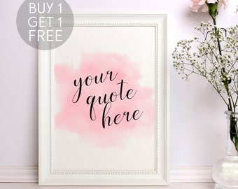 Custom quote print Personalized printable Custom quote Custom nursery print Personalized print Typography art Watercolor print Custom gift