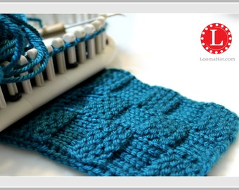 Loom Knit Stitch Pattern The Garter Stitch Checks Basketweave with Video Tutorial Beginner Easy