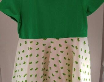 Twirly circle dress-frogs