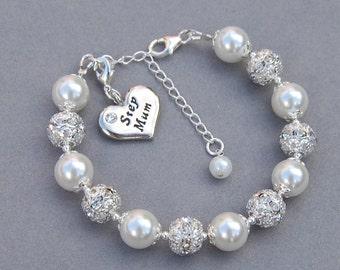 Stepmum Bracelet, Stepmother Gift, Bonus Mum Jewelry, Under 50, Stepmum Birthday, Stepmother Present