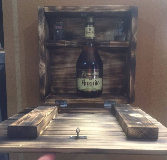 Hidden Wooden Liquor Storage Box Storage Box Liquor Box