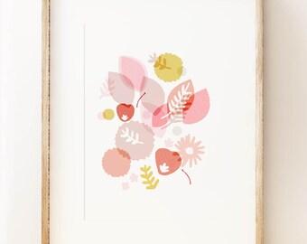 Floral 'Springtime' wall art print