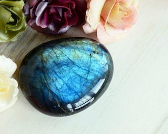 Labradorite Palm Stone Polished 0326344