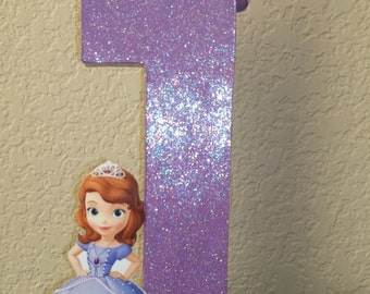 Sofia the first centerpiece, princess centerpiece, princess sofia the first centerpiece, Sophia the first, Cake Topper