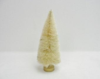 6 inch natural sisal tree, bottle brush tree, white bottle bush tree