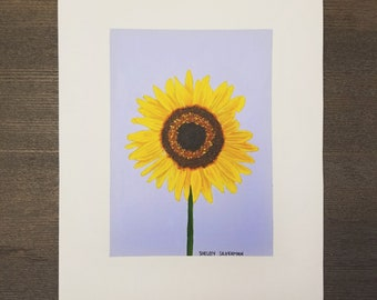 Sunflower Original Acrylic Painting 8 x 10 inches