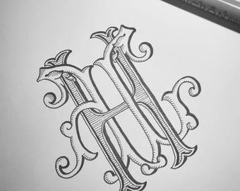 Custom Antique Monogram
