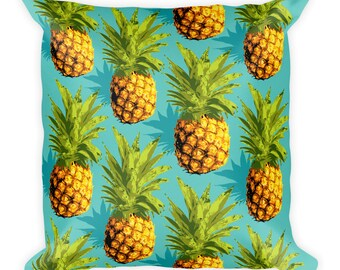 Pineapple Design Square Pillow