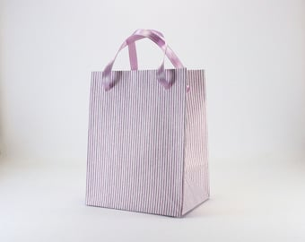 10 Extra Small Favor Bags - Purple Paper Bags with handles - Baby Shower Bridal Shower Favor Bags - Birthday Gift Bags - Party Favor Bags