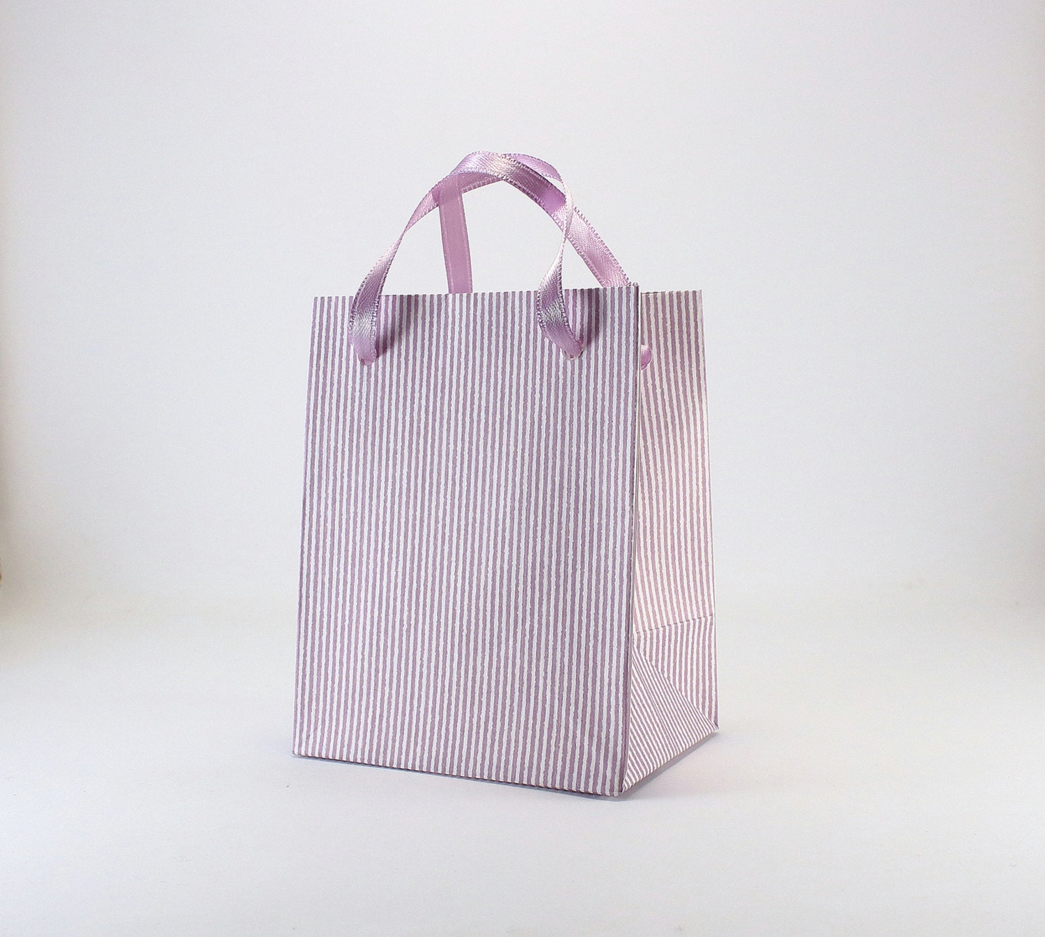 10 Extra Small Favor Bags - Purple Paper Bags with handles - Baby ...