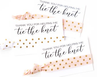 YOU DESIGN | Blush + Gold Bridal Shower Hair Tie Favors, Blush Pink Hair Tie Favors, Wedding Bridal Shower Favors, Champagne Rose Gold White