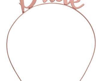 Bride Tiara - Bridal Shower Favors, Headband, Bride Tiara, Bachelorette Favors, Bridal Party headbands, Bachelorette Party headband