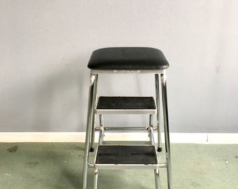 Vintage Ladder, Mid century Klettermax, stool 50s, kick stool, workshop chair, folding stool, kick, kitchen chair foldable,