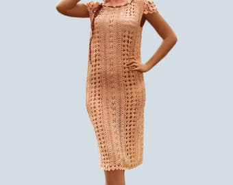 Crochet dress PATTERN, tutorial in ENGLISH for every row boho crochet dress pattern, crochet beach dress pattern, crochet boho dress pattern