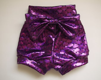 High waist mermaid shorties , baby, toddler, shorts, shorties, girl, pants, spankies, pink,