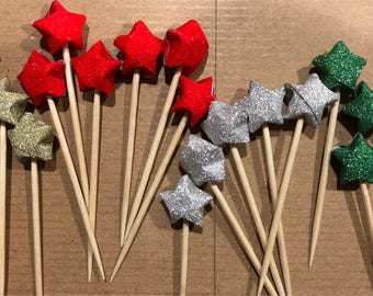 10 Pack Lucky Star Cupcake Toppers
