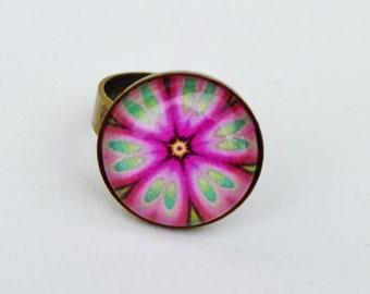 Pink ring mandala