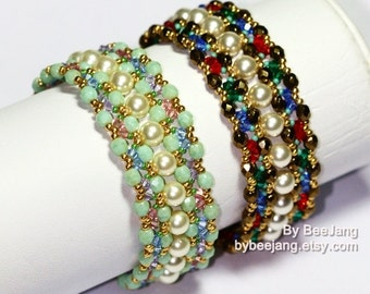 PDF Tutorial - Eretria Bracelet Instant Digital Download Beading Pattern Beadweaving Tutorials